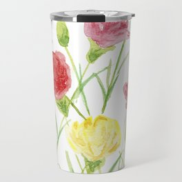 Be Happy as the Pink and Yellow Carnations Travel Mug
