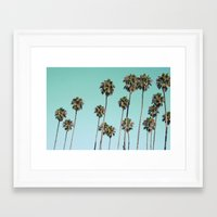 palm trees Framed Art Prints featuring Palm Trees by Mareike Böhmer Photography