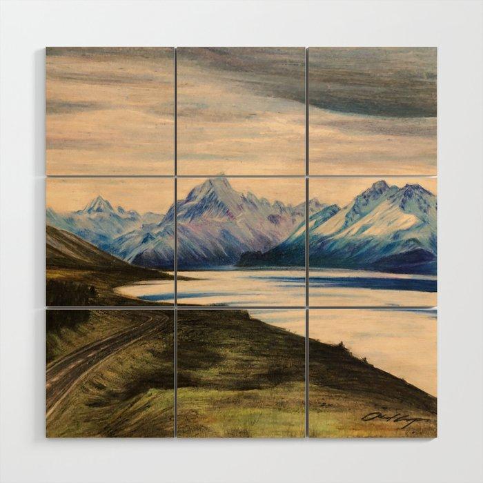 Lake View Lake Pukaki Nz Wood Wall Art By Abelcam