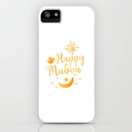 Happy Mabon Day   Gift    iPhone Case