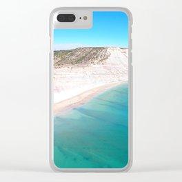Aerial Beach Wall Art Print, Ocean Coastal Decor Clear iPhone Case