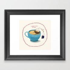 Relax! It's teatime! Framed Art Print