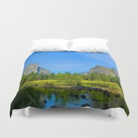 yosemite Duvet Covers featuring Yosemite Valley by Heather Boyce