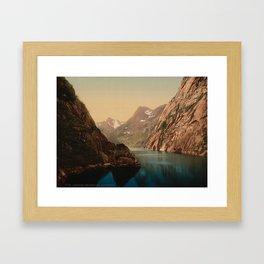 """Lofoten Trollfjord Norway"" Framed Art Print"
