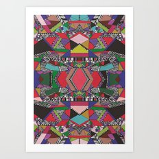 AFRICAN MOTIF  Art Print