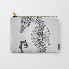 Drawn Seahorse Carry-All Pouch