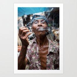 Smokey. Lombok, Indonesia. Art Print