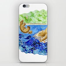 Baby Bear Takes A Tumble iPhone & iPod Skin