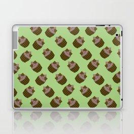 Milk Chocolate Pixel Cupcake Pattern Laptop & iPad Skin