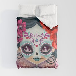 Amelia Calavera - Sugar Skull Comforters