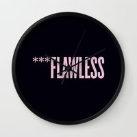 flawless Wall Clocks featuring ***Flawless by Marianna