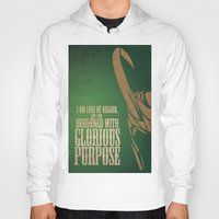 tom hiddleston Hoodies featuring Loki Of Asgard (Tom Hiddleston) by Shelby Breese
