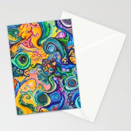 Colorful Brain Clutter Stationery Cards
