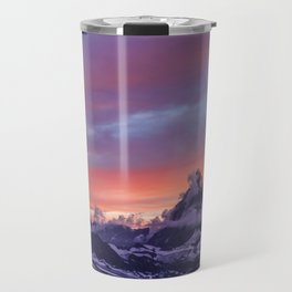 Himalayas Fishtail Mountain Sunset Travel Mug