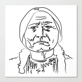Face Sitting Bull Canvas Print