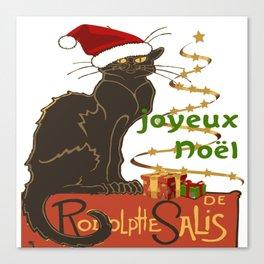 Joyeux Noel Le Chat Noir Christmas Parody Canvas Print