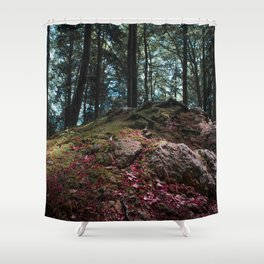 Entwined in Stone Shower Curtain