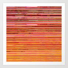 Racing Stripes Art Print