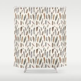 Feathery Nature Pattern Shower Curtain
