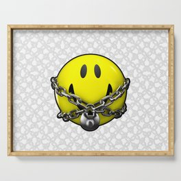 Quit Your Grinning / 3D chained up smiley Serving Tray