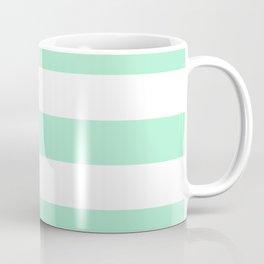 Magic mint - solid color - white stripes pattern Coffee Mug