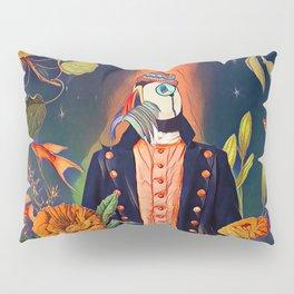 Floral Puffin Pillow Sham