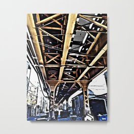 Under the El Tracks Metal Print