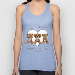 True Friendship is Unconditional Loyalty - Blue Unisex Tank Top