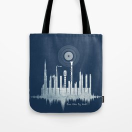 Music Rules My World Tote Bag