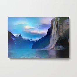 Minimalist Seven Sisters Waterfall Metal Print