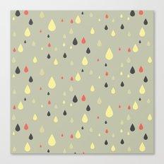 retro raindrops Canvas Print