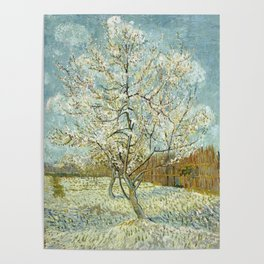 Vincent Van Gogh Peach Tree In Blossom Poster