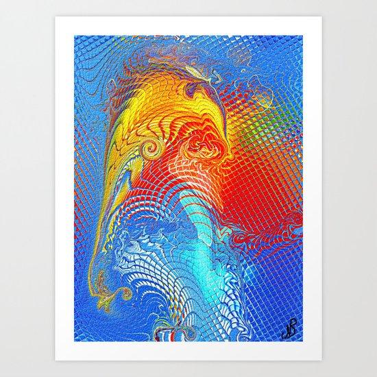 Abstract Elephant Art Print