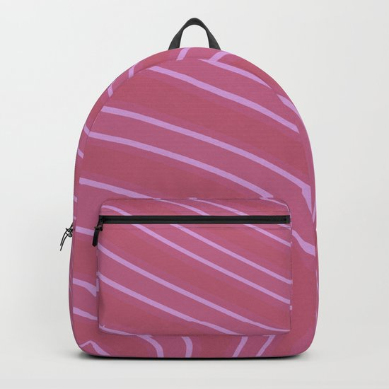 Abstract purple pattern . Backpack