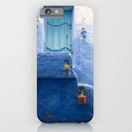 Doors - Chefchaouen IV, The Blue City - Morocco iPhone Case