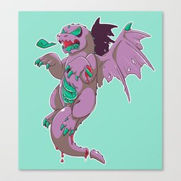 Zombie Dragon Canvas Print