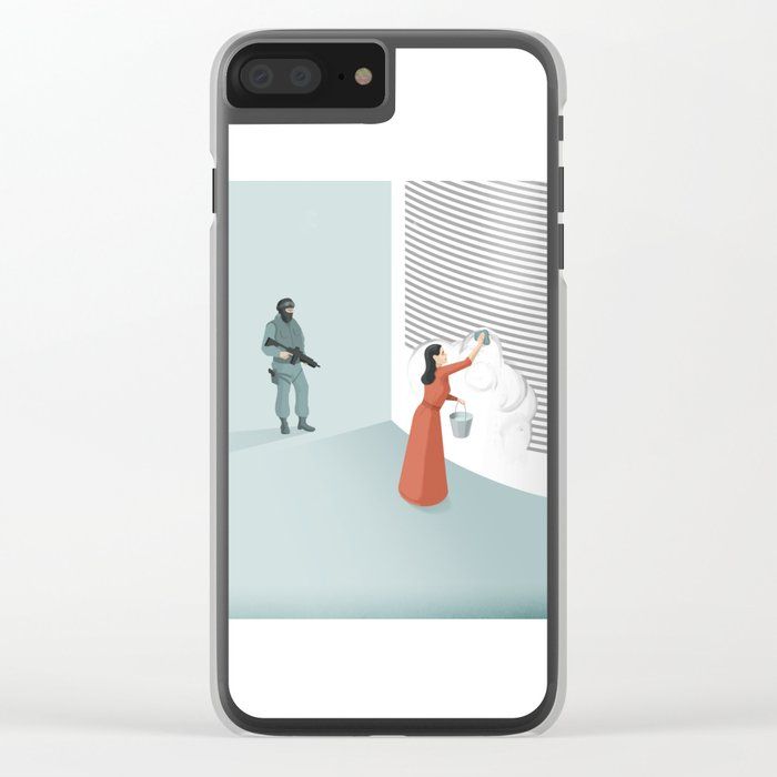 Banned From Literacy Clear iPhone Case