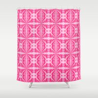 hot pink Shower Curtains featuring Summer in Hot Pink by naturessol