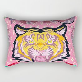 SupLV Pink Tiger Rectangular Pillow