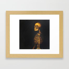 Skeleton Study  Framed Art Print