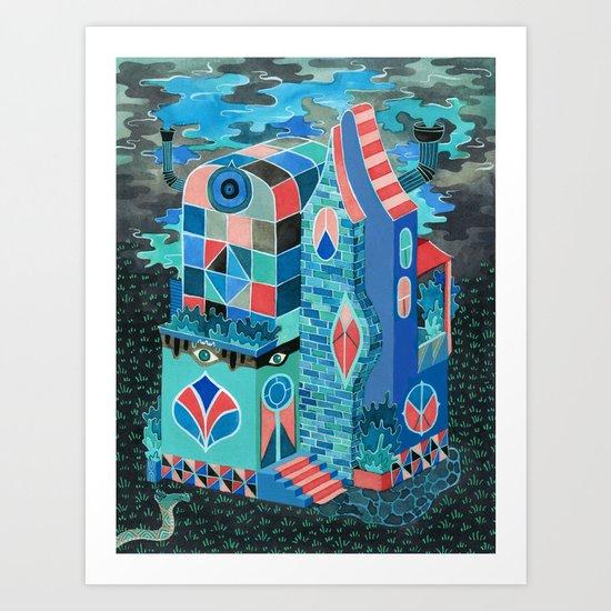 Snake House Art Print