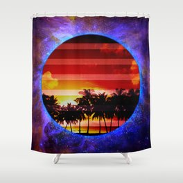 Synthwave Poster v.1 Shower Curtain