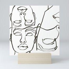 world stares Mini Art Print