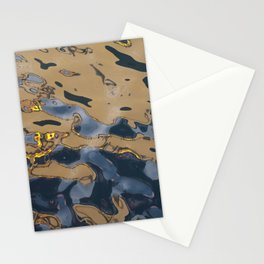 Oil Rig Water reflection Stationery Cards