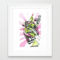 moto Framed Art Prints featuring Moto Mutants by Mike McDonnell