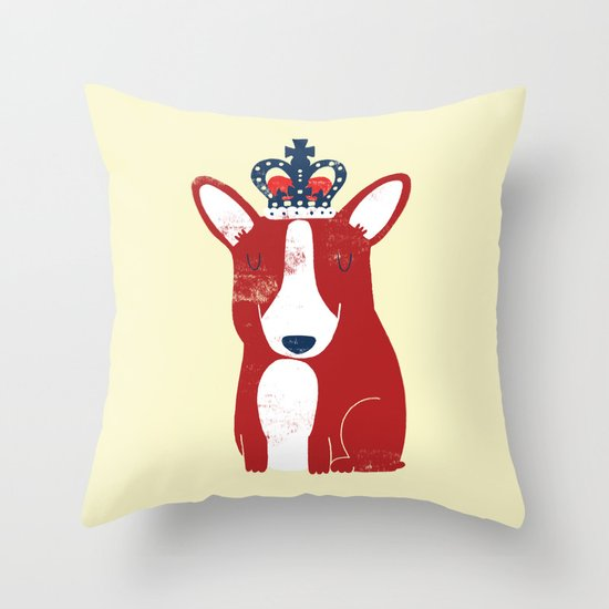 One is not amused Throw Pillow
