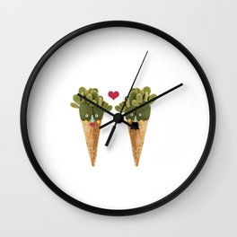 Ms and MR Cactus Wall Clock
