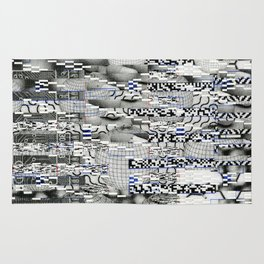 Winding Up Mechanical (P/D3 Glitch Collage Studies) Rug