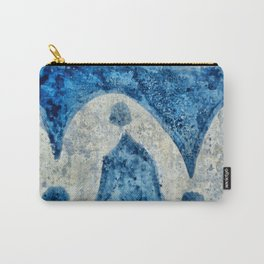 Abstract Italian blue pattern Carry-All Pouch