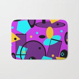 Retro abstract print purple violet Bath Mat